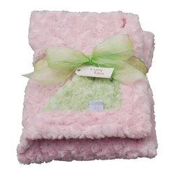 Light Pink/Sage Baby Blanket - This throw blanket is supremely soft and cozy while its two-tone color scheme keeps it looking elegant and sophisticated in any nursery. Buy this blanket for your baby or give as a shower gift to expectant parents. They'll be sure to love and cherish it for years.