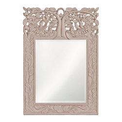 Howard Elliott - Howard Elliott Oakvale Glossy Khaki Mirror - Oakvale glossy khaki mirror