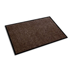 Ecotex - Floortex Ecotex Walnut 24 x 36-inch Plush Entrance Mat - This tough entrance mat is perfect for catching moisture and dirt before it touches your floors. The 100 percent recycled PET material looks stylish in a walnut finish, and the anti-slip back makes sure you won't trip or fall when walking on it.