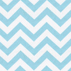 Aqua and White Zig Zag Fabric - Love this Chevron Stripe! Featured on our 100% cotton Twill this fabulous shade of Aqua on an Antique White background is so fresh and hip that you can't help but love it.
