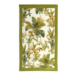 Frontgate - Tommy Bahama Island Beach Towel - 100% ring-spun cotton woven to 450 gsm. Preshrunk. Fiber reactive dyes ensure that the design will stand up to numerous washings. Machine wash cold; tumble dry low. A Frontgate exclusive. Whether you're bronzing on white sand beaches, or drying off after a dip in the waves, the durable and soft Tommy Bahama Beach Towels are the perfect paradise essential. The plush and absorbent towels are adorned with vibrant tropical designs in bold, bright colors. Loomed from the highest-quality cotton, the generously sized towels feature a silky cut pile which reverses to soft, luxurious terry.  .  .  .  .  .