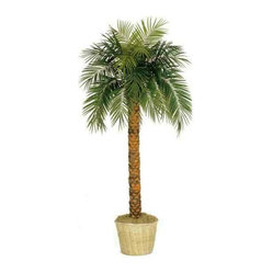 Oriental-Décor - Foot Tall Phoenix Palm Tree - Bring the calm of the islands indoors with this authentic-looking Phoenix Palm artificial tree. This playful greenery comes potted in a weighted wicker pot with Spanish moss, and will look stunning in any corner of your home or office.