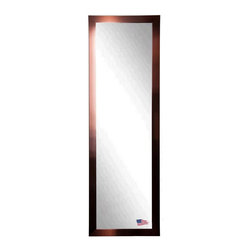 Rayne Mirrors - American Made Shiny Bronze 19 x 58 Slender Body Mirror - Show some charisma with this attractive industrial style copper bronze tall mirror. The warmth of the bronze compliments the shimmering mirror and makes this design a smart choice for most any style of home decor, in any room. Each Rayne mirror is hand crafted and made to order with American products.  All hardware included for vertical or horizontal hanging, or perfect to lean against a wall.
