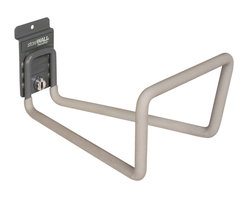 Storewall - Heavy-Duty Utility Hook WIth CamLok - A deep hook with extra width and height; our Heavy Duty Utility hook provides storage that other hooks can't accomplish. The Soft Touch cover gives extra protection to your possessions. Perfect for ladders, hoses, cords and more.
