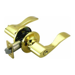 DHI-Corp - Springdale 2-Way Latch Entry Door Handle, Adjustable Backset, Polished Brass - The Design House 700468 Springdale 2-Way Latch Entry Door Handle is finished in polished brass and designed for left or right hand doors. The popular styling of the wave shaped Handle is easily incorporated into most architectural styles and will add a touch of elegance to your decor. This handle fits the two most common backsets in the U.S. (backset is the distance from the edge of the door to the center of the bore hole), which are 2-3/4-inch and 2-3/8-inch. The 1/2-inch latch bolt is plated in nickel and does not budge once in place. With privacy in mind, this product accepts a key on one side of the lock but is operated by a turn-button knob on the other side. Entry handles are often used on front doors and back doors. Use this handle on standard 1-3/8-inch and 1-3/4-inch thick doors. This product has a 1-inch by 2-1/4-inch radius corner face plate and 5-pin security. If you are preparing your door for installation, the cross bore should be 2-1/8-inches in diameter and the edge bore should be 1-inch in diameter. This product is ANSI Grade-3 certified, which means this Handle is rated for residential security. The Design House 700468 Springdale 2-Way Latch Entry Door Handle comes with a limited lifetime mechanical warranty and a 5-year finish warranty. Design House offers products in multiple home decor categories including lighting, ceiling fans, hardware and plumbing products. With years of hands-on experience, Design House understands every aspect of the home decor industry, and devotes itself to providing quality products across the home decor spectrum. Providing value to their customers, Design House uses industry leading merchandising solutions and innovative programs. Design House is committed to providing high quality products for your home improvement projects.