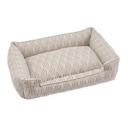 Jax & Bones - Jax & Bones Cotton Blends Lounge Bed Pearl Large - The Jax and Bones cotton blends lounge bed is perfect for your dog for lazing around, snuggling, curling into, and leaning against. The warmth and extra reassurance this bed provides lets your dog remain comfortable and happy. With extremely unique range of designs, these beds are easy to maintain and made from the highest quality material especially considering we use an eco-friendly fiber called Sustainafill.  A diverse selection of heavy weight fabrics that are machine washable and luxurious to the touch. Most of these fabrics carry a texture that will create a uber luxurious upholstery feeling dog bed. Great for medium to high traffic use and homes that want a more unique design. Machine washable, low heat tumble recommended! 100% Machine Washable and filled with Sustainafill, an eco-friendly fiber.