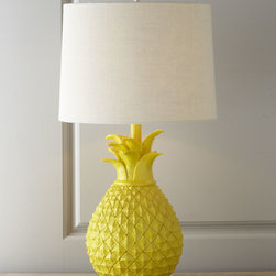 Horchow - Pineapple Table Lamp - This fantastic yellow pineapple lamp is so Palm Beach chic!