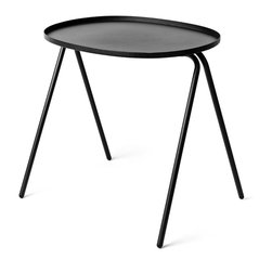 Menu - Afteroom Side Table, Black - Being fans of Bauhaus and true form-following-function believers, Afteroom designed a stackable table that is just as practical and durable as it is beautiful.