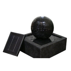 Black Ball Solar Fountain