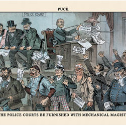 Buyenlarge - Puck Magazine: Let the Police Courts Be Furnished 12x18 Giclee on canvas - Series: Puck Magazine
