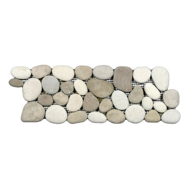 CNK Tile - Java Tan and White Pebble Tile Border -