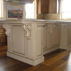 Glaxed kitchen island - http://customhomesmiller.com/