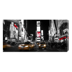 None - Ludo H 'Nightlife in Times Square' Stretched Canvas Art - This hand crafted stretched canvas of Ludo H,'Nightlife in Times Square' is a museum quality reproduction of the original work. Shipped to you finished and ready-to-hang,it is a welcome addition to any type of decor.