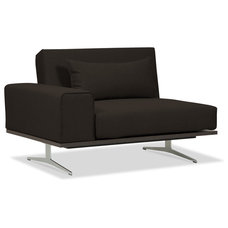 Modern Armchairs And Accent Chairs Metropolitan Brown Convertible Chair Right
