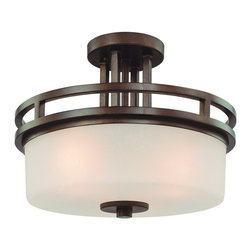 Dolan Designs - Dolan Designs 2885-62 Multnomah Heirloom Bronze Semi-Flush Mount - Dolan Designs 2885-62 Multnomah Heirloom Bronze Semi-Flush Mount