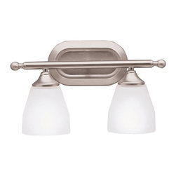 Kichler - Kichler Ansonia Bathroom Lighting Fixture in Brushed Nickel - Shown in picture: Kichler Bath 2Lt in Brushed Nickel