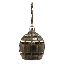 Lazy Susan - Lazy Susan Round Fortress Pendant Light X-800531 - Made from iron