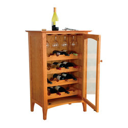 Cherry Pond Fine Furniture - Cambridge Wine Cabinet - Cherry - Cambridge Wine Cabinet