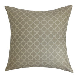 "The Pillow Collection - Xuxa Moorish Tile Pillow Ironstone 18"" x 18"" - Add a touch of modern elegance to your couch, sofa or bed with this contemporary throw pillow. You can dress up your bedroom, living room or guestroom by decorating this square pillow. The decor pillow is adorned with a traditional Moorish tile pattern in shades of gray. Combine solids and other patterns for a chic decor style. Made of 100% plush and soft cotton material. Hidden zipper closure for easy cover removal.  Knife edge finish on all four sides.  Reversible pillow with the same fabric on the back side.  Spot cleaning suggested."