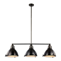 Trans Globe Lighting - PND-1007 WB 3 Light Island Pendant - Adjustable - Nostalgic headlamp style pendant light has knobs to open lens cover. Frosted glass lens has prismatic texture to diffuse glare. Height adjustable rods included. Perfect compliment to nautical and industrial dEcor styles. Choose antique look in polished nickel, or rustic weathered bronze.