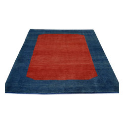 1800-Get-A-Rug - Modern Lori Buft Gabbeh Red Hand Knotted Rug Sh8573 - About Modern & Contemporary