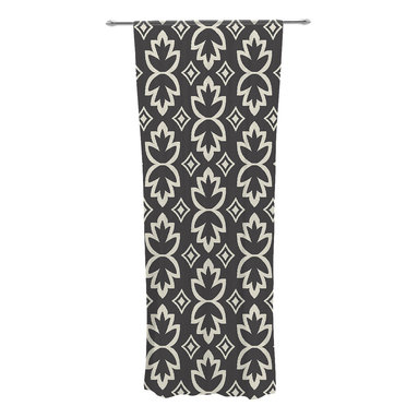 "Kess InHouse - Amanda Lane ""Black Cream Bohemia"" Dark Pattern Decorative Sheer Curtain - Let the light in with these sheer artistic curtains. Showcase your style with thousands of pieces of art to choose from. Spruce up your living room, bedroom, dining room, or even use as a room divider. These polyester sheer curtains are 30"" x 84"" and sold individually for mixing & matching of styles. Brighten your indoor decor with these transparent accent curtains."