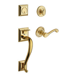 Baldwin Hardware - Baldwin Estate 85320 Madison  Handleset, LH Keyed Entry - Lifetime Brass - Equipped with Wave Lever, Left Handed.