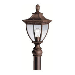 Kichler - Kichler Amesbury Outdoor Post/Pier in Gold - Shown in picture: Outdoor Post Mt 1Lt in Tannery Bronze w/ Gold Accent