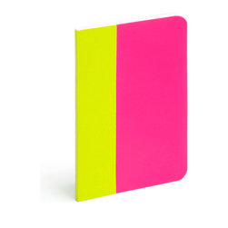 Poppin - Thin Notebook, Snowcone, Small - Forget little black books. Let your love and creative juices flow with these slim notebooks in bold color combinations. Each 5-by-8-inch journal has 64 custom-ruled pages, acid and lignin free paper and features a stitch-bound cover.