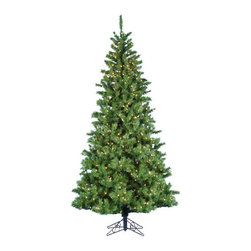 Kurt Adler - Kurt Adler 6.5-foot Pre-lit Sugar Pine Slim Tree - 5' Pre-lit Sugar Pine Slim Tree is a beautiful,classic way to add to your holiday decor. With a slim green design,this tree has 853 tips,hinged construction,a metal base,UL-approved 500 lights,and 10 spare bulbs.