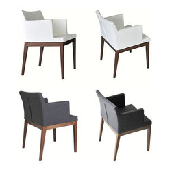 Soho Wood Arm Chair by sohoConcept - In a meticulous merging of style and comfort, the Soho Wood Arm Chair is another elegant option in sohoConcept's appealing Soho Collection of seating.