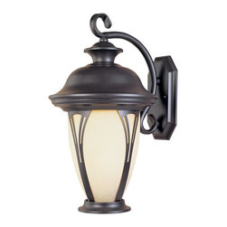 Designers Fountain - Designers Fountain Westchester Traditional Outdoor Wall Sconce - Every stylish home needs to have this Designers Fountain Westchester Traditional Outdoor Wall Sconce. It has a classic design that features a frame in a rich, bronze finish with a gently curved arm, a shapely hood and panels of curved seedy glass. It's a stunning, 12.75-inch tall piece that's sure to diffuses light evenly in any space.