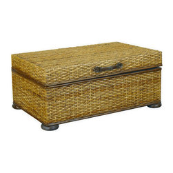 Hammary - Hammary T73256-00 Hidden Treasures Trunk Cocktail Table in Rattan Weaving - Trunk cocktail table in rattan weaving belongs to Hidden Treasures collection by Hammary the Hidden Treasures collection is a fabulous assortment of one-of-a-kind accent pieces inspired by the greatest furniture designs from around the world. Each selection is a true treasure - rich in old world icons and traditions. All the pieces in this collection are crafted with attention to every detail. From brass nailhead trim and exquisite hand-painting to elegant shaping and decorative trim, every item is a unique work of art. A wide variety of materials is used to create the perfect look and finest quality - from exotic woods, leather and stone to raffia and glass. The huge selection of finishes, hardware, exceptional carvings and other final touches offer unsurpassed versatility for any room in the home. Hidden treasures includes cocktail tables, occasional and accent pieces, trunks, chests, consoles, wine racks, desks, entertainment units and interesting storage pieces. Place one in a comfortable reading nook... In the family room for flair and variety... In the foyer for a welcome look... In a bedroom for cozy style... Or in the office for function and versatility. The pieces in this collection mix beautifully with any decorating style and will easily become the focal point in any setting.