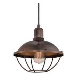 Quoizel - Quoizel CKHP1511 Heritage Pendant 1 Light Industrial Pendant - Features: