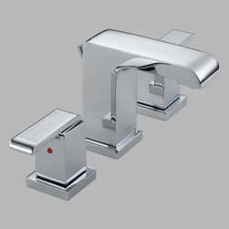 Delta - Delta Arzo 3586LF Double Handle Widespread Bathroom Sink Faucet with All Metal P - Shop for Bathroom from Hayneedle.com! So chic the Delta Arzo 3586LF Double Handle Widespread Bathroom Sink Faucet with All Metal Pop-up Drain has a modern style that stands out from the crowd. Its sharp lines are made to last from solid brass and it even comes in your choice of available finish to suit your needs.About Delta FaucetPairing inspirational design with innovations that anticipate people's needs Delta produces kitchen faucets bathroom faucets and shower systems that are as beautiful as they are functional. Delta puts all of their products through a strict regimen of durability testing. Delta Faucet is committed to green manufacturing processes and helping people to be smarter and more environmentally responsible in how they use water. All of these things add up to show how Delta is more than just a faucet.
