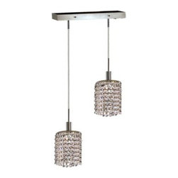 Lighting By Pecaso - Wiatt Hanging Fixture Oblong Canopy L8x4.5 H12-48 Round Pendant Lt:2 Chrome - ChainWire Incuded  4 ft, Bulb Type GU10, Bulb Wattage 50, Max Wattage 100, Voltage 110V125V, Finish Chrome, UL  Ulc Standard  YES, UL  Ulc Standard  YES