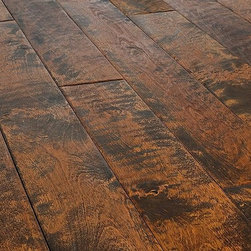 """Jasper - Jasper Hardwood - Mountain Home Artisan Collection - [21.0 sq ft/box] - Birch Yellowstone / 5"""" / Natural Oil -The planks in the Mountain Home Artisan Collection are individually handscraped by artisans - no two are alike. This creates a truly authentic distressed look that will add a unique look to your home.    The hardwood flooring in the Jasper Mountain Home Artisan Collection is made exclusively from quality northern lumber. The tradition of manufacturing excellence is an integral part of every wood flooring product in this collection. All hardwood is precision-milled, subject to stringent quality controls and dried in state-of-the-art kilns.    The Mountain Home Artisan Collection features a handscraped surface that is UV cured with natural oil. This finish offers superior wear resistance over the competition and is backed by a 35 year warranty. All Jasper flooring meets and exceeds NOFMA grading."""