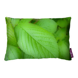 Tempo Luxury Home - Verde Pillow by Joe Ginsberg for Tempo Luxury Home - Fresh and inviting. Conjuring the cool greens of springtime, this decorative pillow brings the beauty of the outdoors into your home. Add a lighthearted touch to any room with Verde. Printed on silk charmeuse with a coordinating backing; velvet-textured backing in Silver. Fill: 75% goose down; 25% feather. The Le Fleur Collection is made to order.