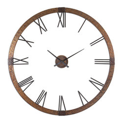 "UTTERMOST - Amarion 60"" Wall Clock - This oversized clock features:"