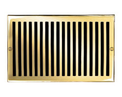 "Brass Elegans 116G PLB Brass Decorative Air Return Vent Cover - Contemporary - P - This polished brass finish solid brass air return vent cover with a contemporary design fits 6"" x 10"" duct openings and adds the perfect accent to your home decor."