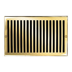 """Brass Elegans 116G PLB Brass Decorative Air Return Vent Cover - Contemporary - P - This polished brass finish solid brass air return vent cover with a contemporary design fits 6"""" x 10"""" duct openings and adds the perfect accent to your home decor."""