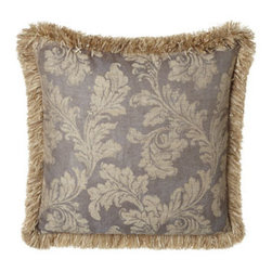 Dian Austin Couture Home - Dian Austin Couture Home Leaf European Sham - Named for their wisteria-inspired lavender palette, bed linens by Dian Austin Couture Home® feature scrolling acanthus leaves and an abundance of ruching. Made in the USA of silk dupioni and Italian-woven viscose/polyester/linen/silk. Dry clean. D...