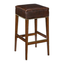 EuroLux Home - New Counter Counter Height Stool Santa Fe Finish Wood - Product Details