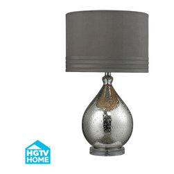 Dimond Lighting - Modena 1-Light Table Lamp in Mercury Glass - Dimond Lighting HGTV252 Modena 1-Light Table Lamp in Mercury Glass