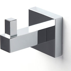 Italia - Italia Capri Series Single Chrome Robe Hook - The Italia Capri robe hook features a stylish design with an European flair. Made of brass,this hook features a quality polished chrome finish that will enhance any bathroom.