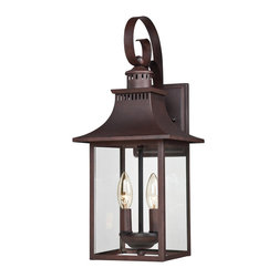 Quoizel - Quoizel Chancellor 2 Light Outdoor Wall Lantern in Copper CCR8408cu - Quoizel Lighting Chancellor 2 Light Outdoor Wall Lantern in Copper Bronze CCR8408CU