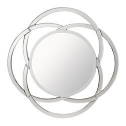 Kichler Lighting - Kichler Lighting Powell Modern / Contemporary Round Mirror X-86187 - This unique Powell mirror will make a distinctive impact in your home. Featuring curved details with a Clear finish, this design is sure to create a bold statement in any space.