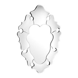 Coeur Mirror - A great mirror is always a plus, because it brings light and the illusion of space into a room, and it's extra useful when you're on the go. But this one is something specialan amorphous heart shape crowned with an elegant frame and ready to glamorously adorn the wall.