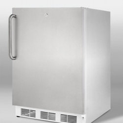 LB651LCSS ADA compliant built-in undercounter refrigerator-freezer in complete s - SUMMIT's ALB651 series brings advanced cooling technology to perfectly sized, fully featured refrigerator-freezers made to fit under ADA counters.