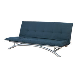 Coaster - Coaster Silver Metal Futon Frame - Coaster - Futons - 300008 - Silver finish metal futon frame. Mattress Pad not included.Features: